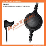 Ear Bone Mic Headset with Big Round Ptt for Walkie Talkie