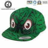 Fashion Colorful Green Dragon Screen Printing Basketball Snapback Cap