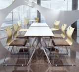 Modern Design Cheap Steel Wood Dining Room Table and Chair