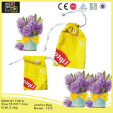 Fashion Yellow Custom Fabric Jewelry Handbags (3110)