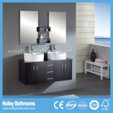 High-Gloss Paint Storage Space Large Double Basin Bathroom Set (BF116D)