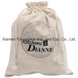 Promotional Custom 100% Natural Cotton Drawstring Bag for Shoes