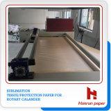 30GSM Tissue Paper on Rotary Calander/ Roller Heat Press Machine