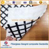 Asphalt Coated Reinforcement Fiberglass Geogrid and Geotextile Drainage Composite