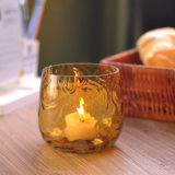 Blown Colored Glass Candle Holder