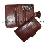 PU Wallet Key Holder with Zipper Coin Pocket