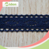 Embroidered Customized Blue Circle Trimming African Cotton Crochet Lace