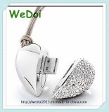 Heart Shaped Diamond USB Stick as Christmas Gift (WY-D06)