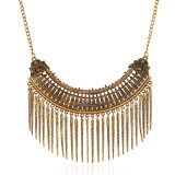 Metal Alloy Chain Tassel Choker Fashion Necklace Jewelry