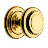 Gold Plated Brass Front Door Knob, Furniture Knob OEM Supplier