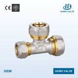 Tee Channel Redcued Brass Valve Fitting Multi Sized
