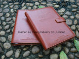 Leather A4 Writing Agenda Ring Binder Notebook