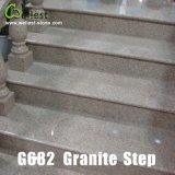 G682 Sunset Yellow Rusty Granite Step/Treads/Stairs with Bullnose Edge