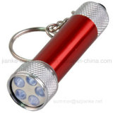 Mini 5 LEDs Flashlight Key Chain with Logo Print (4070)