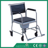 CE/ISO Approved Hot Sale Cheap Medical Stainless Steel Commode Wheel Chair (MT05030062)