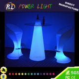 Plastic RGB Colorful Bar Furniture LED Peak Poseur Table
