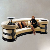 Customize Luxurious Modern/European/Antique/Classic Hotel Fabric/Leather Lobby Sofa Furniture (FLL-SF-040)