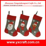 Christmas Decoration (ZY17Y267-1-2-3 39CM) New Stocking Design for Christmas Day