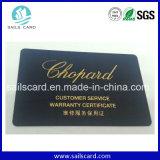 Credit Size Custom Plastic Watch Warranty Card
