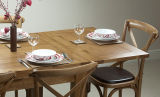 Dining Room Furniture Set Wooden Dining Table and Solid Oak Chair Dining Room Furniture (HSRU0021L)