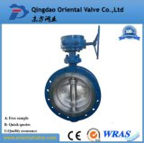 Marine Dual Eccentricity Flanged Gas Operated Butterfly Valve
