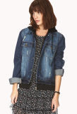 Wholesale Women's Denim Jacket, Jean Jacket, Fashion Women Clothes 7116