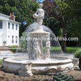 Granite Carved Outdoor Garden Water Fountains with Angel Sculpture