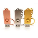 USB 2.0 Metal Memory Stick USB Flash Drives Pendrives 4GB 8GB 16GB 32GB 64GB USB Stick Pen Drive with Key Chain