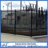 Steel Palisade Fencing with Razor Wire