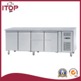 Gn 1/1, 4 Doors Stainless Steel Refrigerated Counters