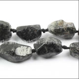 Awesome Black Rutilated Quartz Faceted Gemstone Nuggets Gemstone Beads (SL72795)