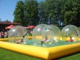 Big Yellow Square Pool, Walking Ball, Rolling Ball