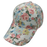 6 Panel Baseball Cap with Floral Fabric Bb112