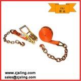 "Ratchet Strap W/ Chain Extension 2"" X 27′ Orange"