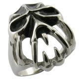 Steel Ring Biker Ring Black Men Ring