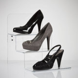 Stepped Acrylic Shoe Display for Product Promotions