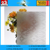 3-8mm Clear Rh-5 Acid Etched Patterned Glass with AS/NZS 2208