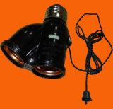 Bakelite Double Adaptor Lamp Socket (H5026)