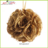 Gold Silk Flower Ball for Wedding Party Decoration