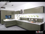 Baked Paint Kitchen Cabinet