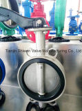 Pn16 All Stainless Steel CF8/Ss304 Wafer Butterfly Valve with Handle