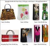 Handmade Fashion Paper Wine Bag with Apparel Design (SL028)
