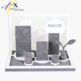 Elegant Silver Watch Wooden Display Stand for Supermarket