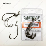 High Carbon Steel Ep-38105 Worm Fishing Hook Customized Fishing Hook