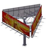 Steel Structure Highway Custom Unipole Three Side Billboard Structure