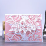 New Style 210GSM Pearl Paper Laser Cut Wedding Invitation Card