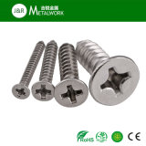 Stainless Steel Philip Flat Head Self Tapping Screw (DIN7982)