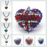 Fashion Jewelry Shamballa Necklace with Heart Shape (GT408)