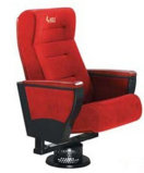 Fixed Single Pedestal Auditorium Chair, Red Fabric Seating