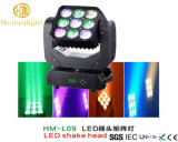 LED Moving Head Beam LED Shake Head Matrix 9PCS*10W Stage Light for Disco Party
